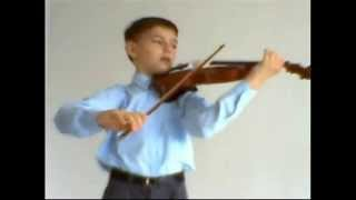 J.S.Bach - Partita No. 3 for solo violin [Gavotte - Menuet I, II].