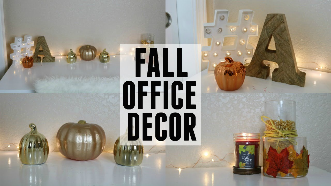 Fall Office Decor You