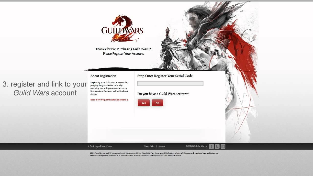 guild wars serial code