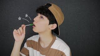 figcaption [Sub] Korean ASMR Popping Candy Eating Sound