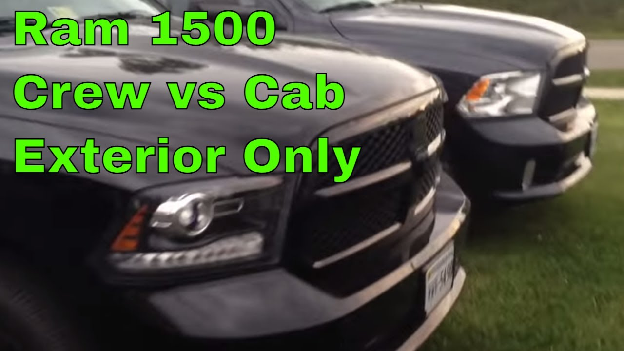 Crew Cab Vs Quad Cab >> Quick Review Ram 1500 Crew Cab Vs Quad Cab Size Youtube