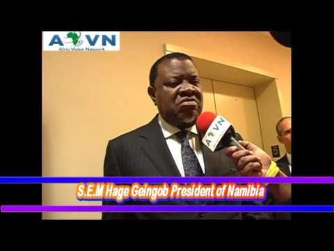 Interview With S.E.M Hage Geingob President of Namibia www.avntv.net