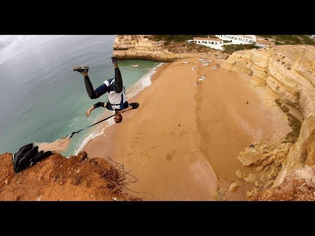 Front Flip low BASE Jump