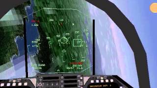 F-18 vs Mig 1.44 Dogfight (1998 JetFighter Full Burn)