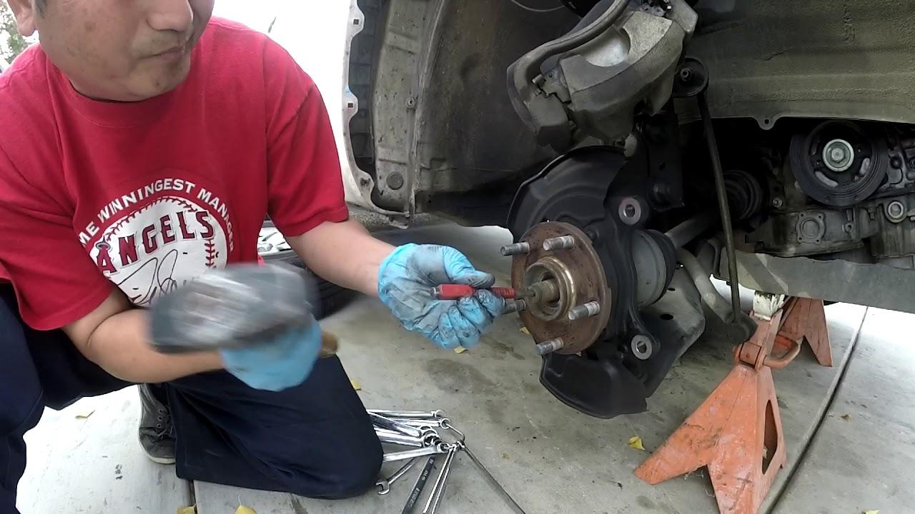 2008 RAV4 front hub bearing replacement