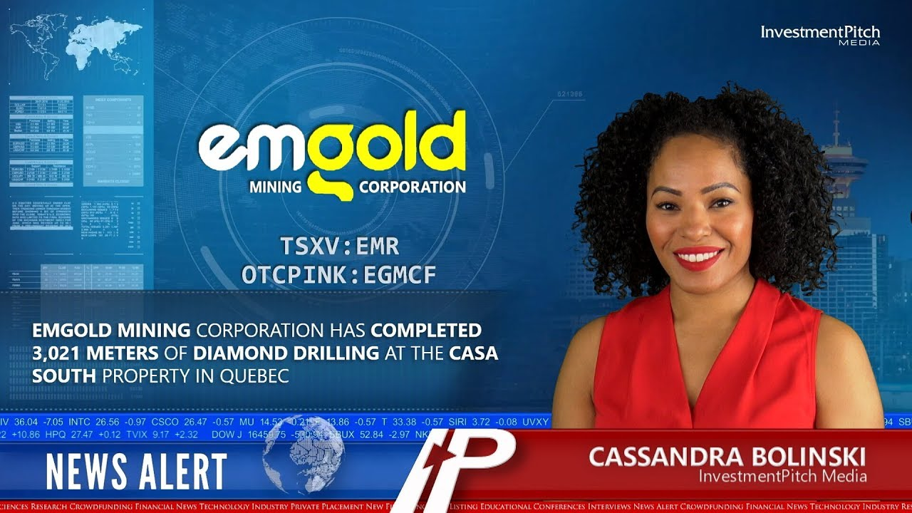 small resolution of emgold mining corporation has completed 3 021 meters of diamond drilling at the casa south property