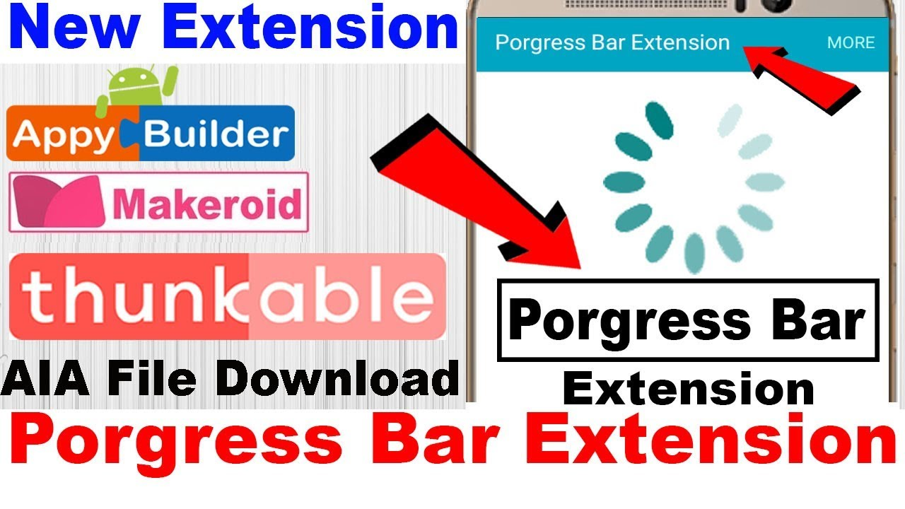 Thunkable Infinty Progress Bars Extension | New Extension