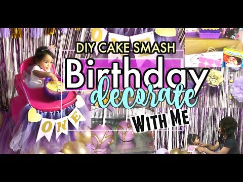 ROYAL DIY CAKE SMASH | DECORATE WITH ME FOR BABY GIRL'S FIRST BIRTHDAY