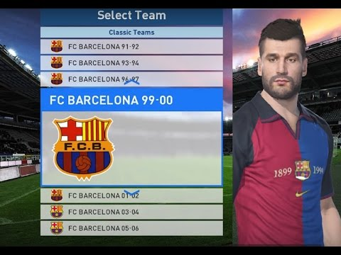 CLASSIC FC BARCELONA KITS ON PES 2017 MYCLUB