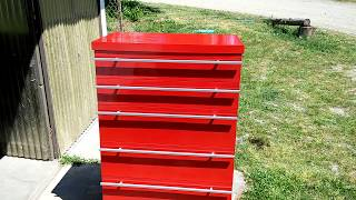 Fake Snap-on, Matco Toolbox, Retro Wooden Dresser Drawer Makeover