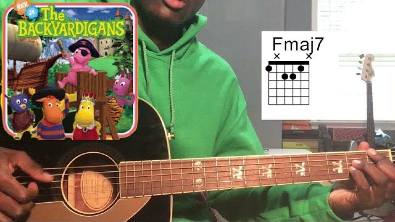 The Backyardigans   Castaways Guitar Tutorial w/tabs