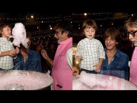 Shahrukh Khan's son Abram Khan bonds with Amitabh Bachchan as he gives him cotton candy
