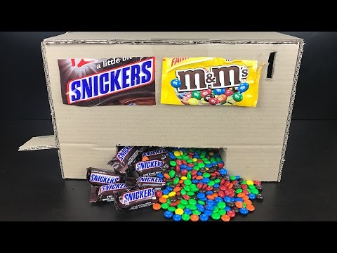 HOW TO MAKE A CANDY VENDING MACHINE AT HOME