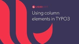 Using column elements in TYPO3