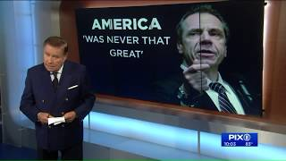 NY Gov. Cuomo says America `was never that great`