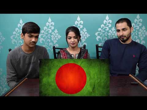 "PAKISTANI REACTION on ""Amar Shonar Bangla"" - Bangladesh National Anthem"