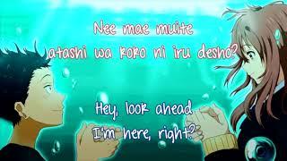A Silent Voice's Koi o Shita no Wa Karaoke with Japanese lyrics (romaji) and English subtitles