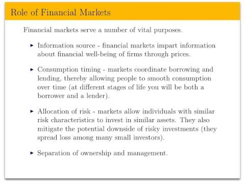 Econ 133, Lecture 1 - Introduction to Assets and Markets