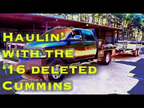 HAULING WITH THE DELETED 2016 DODGE CUMMINS 😎😎😎 at Hollis Farms