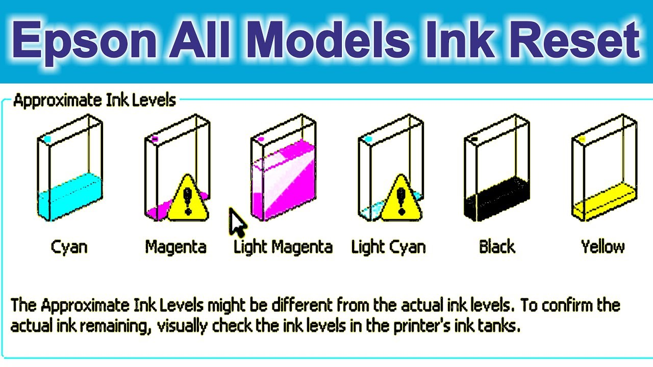 Epson Ink Reset l210 l220 l360 l800 Red Light Blinking in Hindi Video