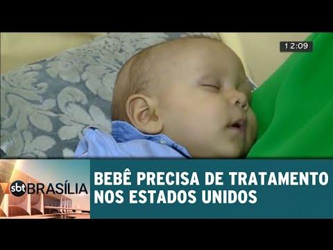 Bebê precisa de tratamento nos Estados Unidos   SBT Brasília 08/06/2018