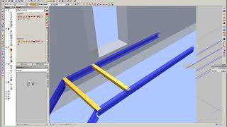 Приемы работы в Allplan 2009 на примере металлической лестницы