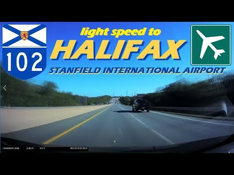 Time Lapse: Light-Speed drive from Halifax to Stanfield International Airport