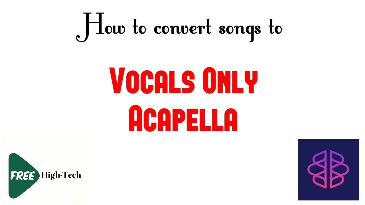 How to convert songs to Vocals Only - Acapella (Phonic Mind Website)