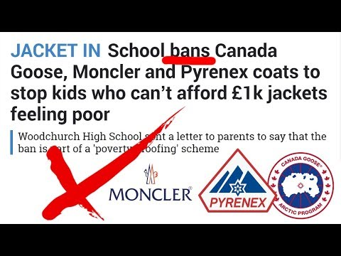 f3dbcce59 School BANS Canada Goose, Moncler & Pyrenex Jackets! - YouTube