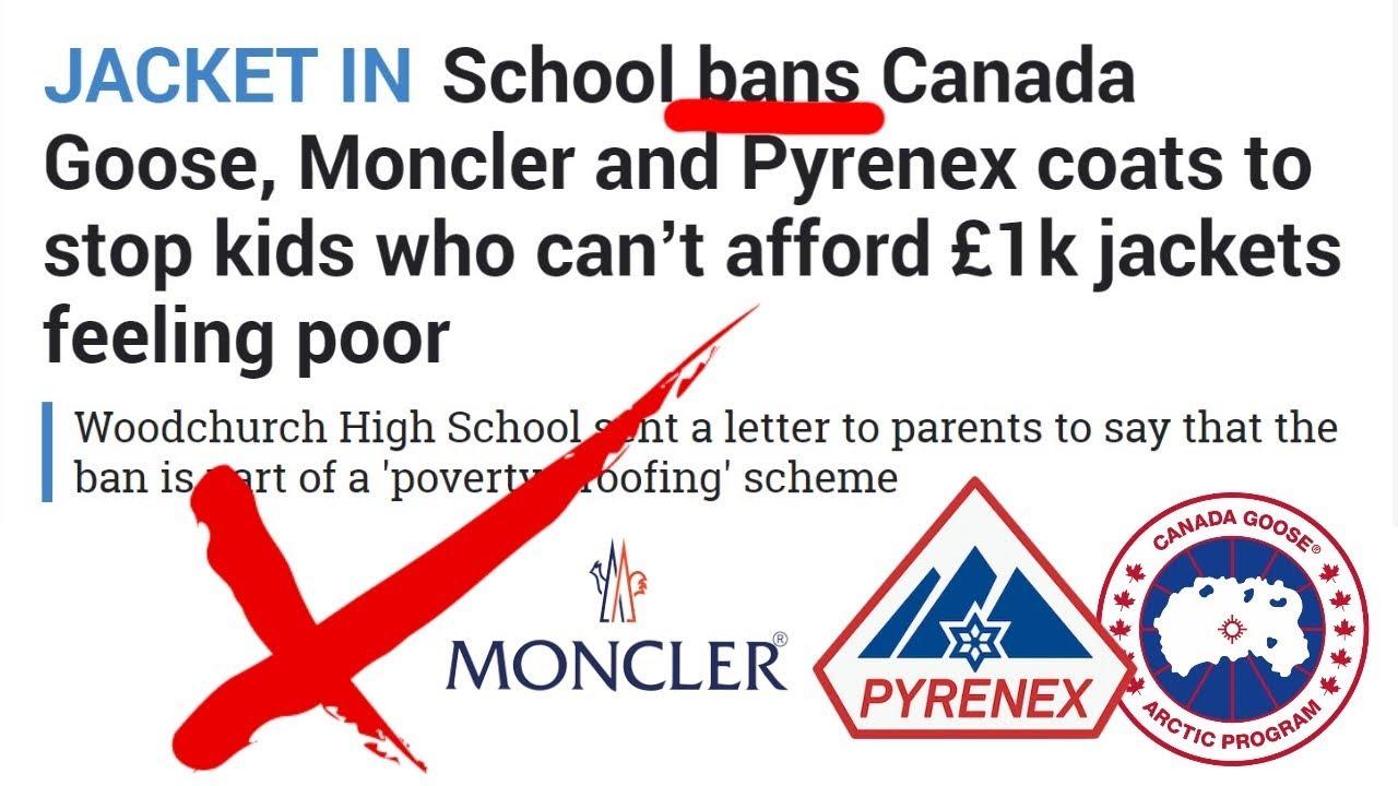 ffcca3eec School BANS Canada Goose, Moncler & Pyrenex Jackets!