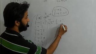 compiler design lr0 and slr1 parser with example part 1 lecture 18 bottom up parsing