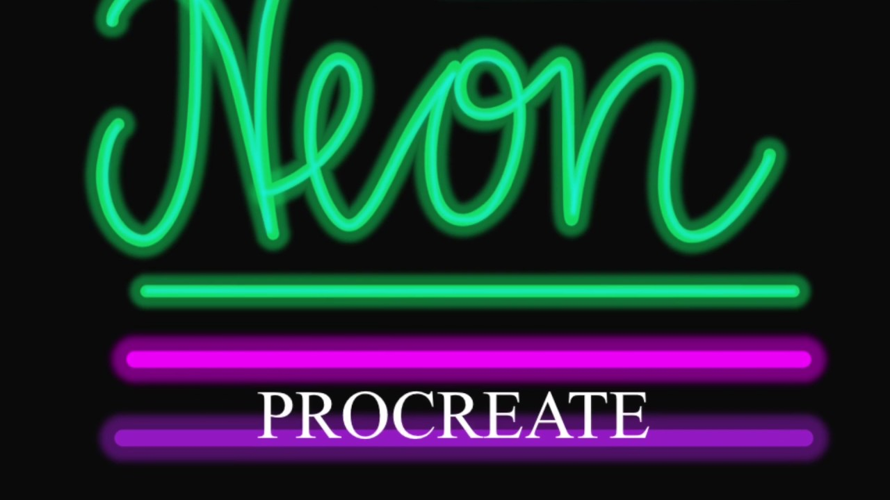 Neon brush Procreate brush for iPad for any iPad Lettering
