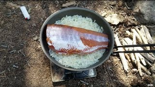 High Country Backpacking For Camping Trout Dinner With Emma, Ash & Junie!