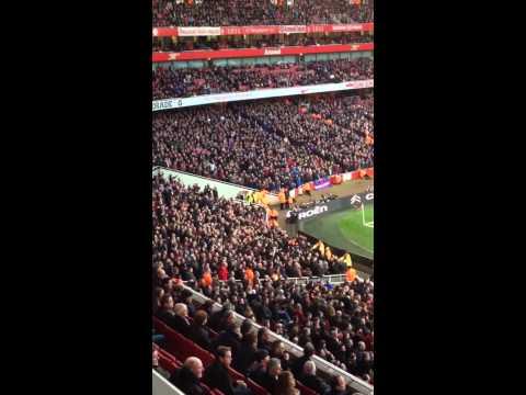 Crystal Palace fans away at Arsenal chanting