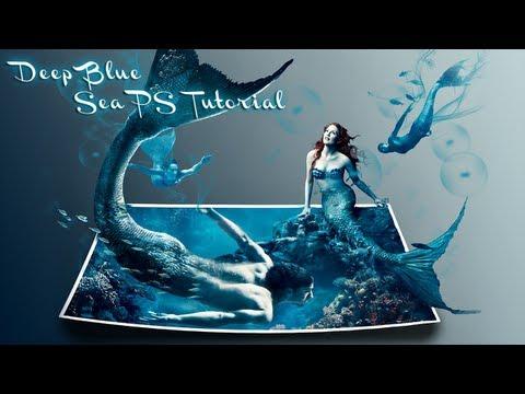 deep blue sea │ 3d effect │ photoshop cs6 tutorial