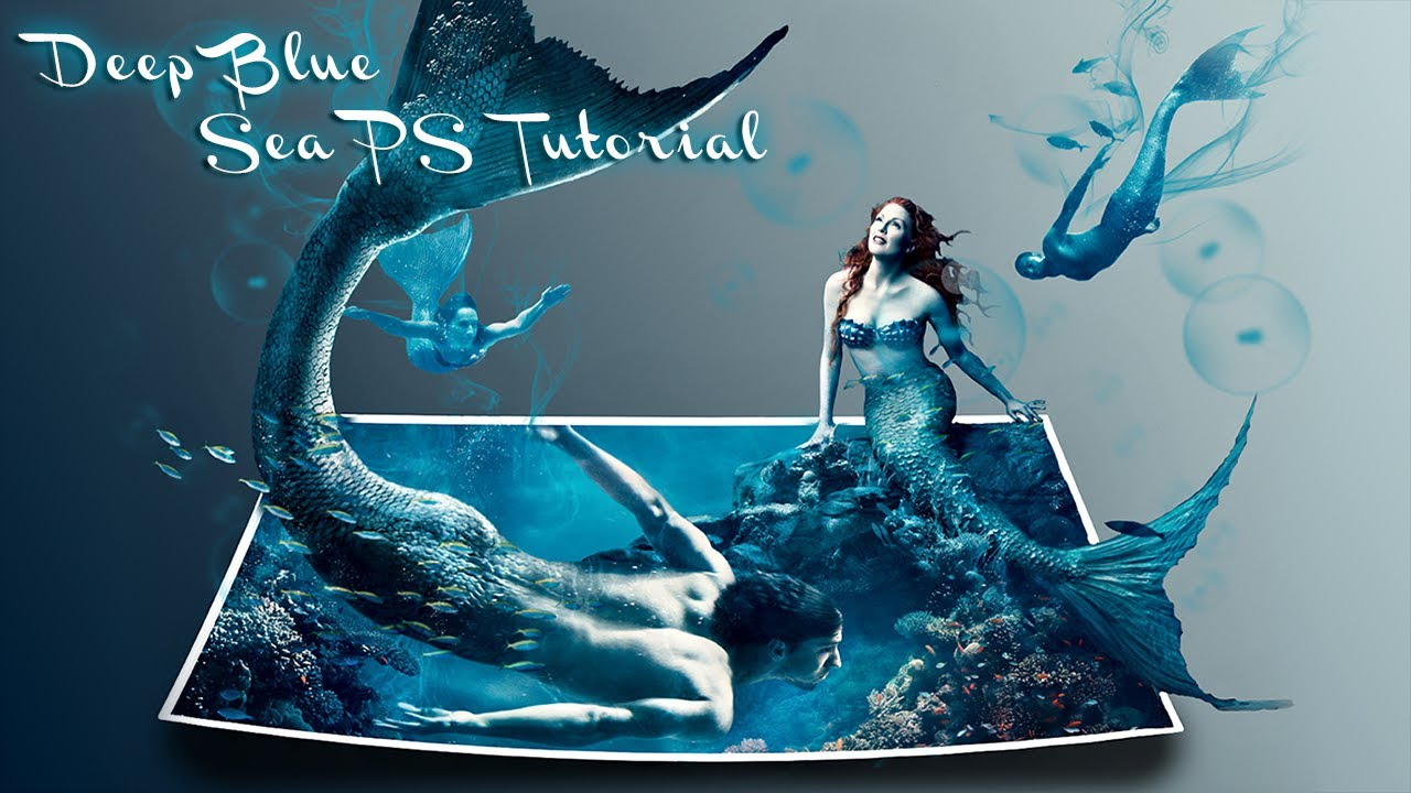 3d Watch Wallpaper Deep Blue Sea │ 3d Effect │ Photoshop Cs6 Tutorial Youtube