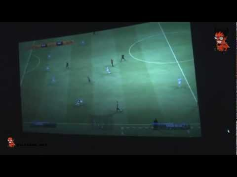 Playing FIFA 13 On the biggest IMAX Screen in DUBAI | فيفا 13 في سينما الميدان