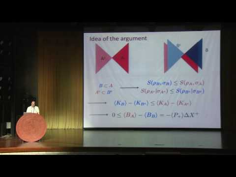 Juan Maldacena - Entanglement and spacetime geometry