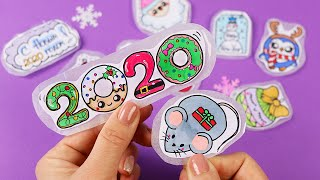 10 DIY CHRISTMAS STICKERS  WITHOUT GLUE and double-sided tape