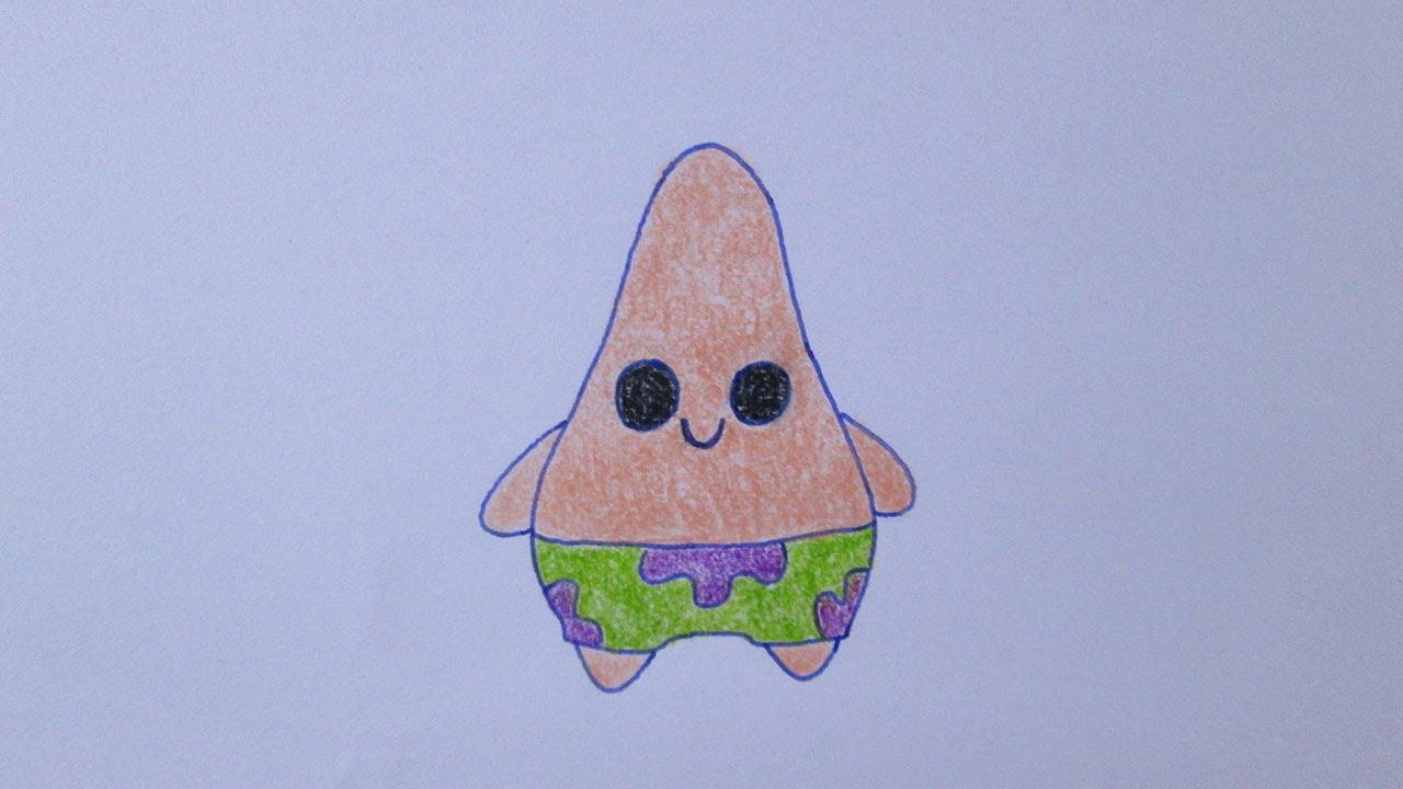 Como Desenhar Coisa Amorosa: Como Desenhar O Patrick Estrela Muito Fofo