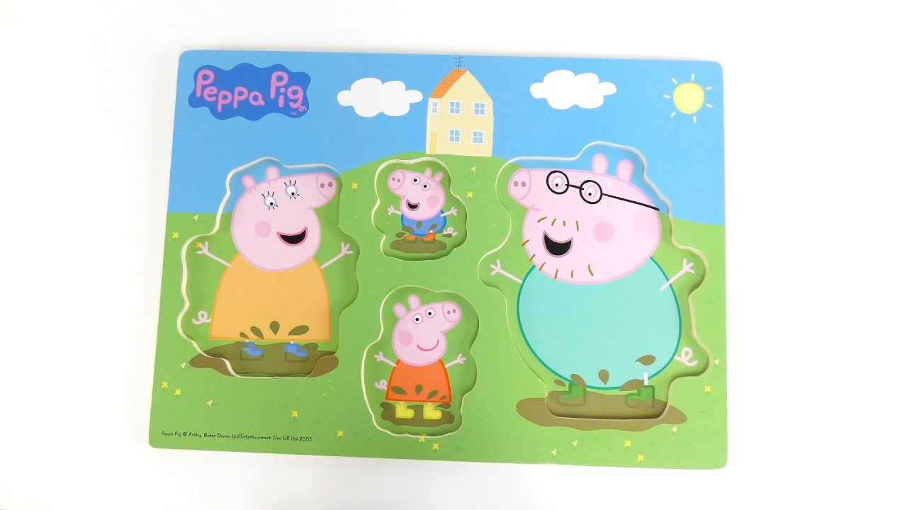 peppa pig peppa s muddy puddle u0026 get well soon puzzle wooden