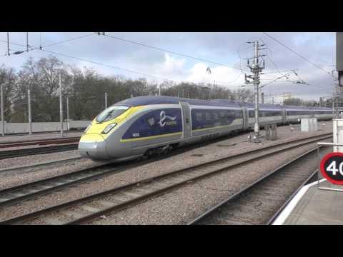 (HD) New Eurostar Velaro 4001/4002 Depart St Pancras Working to Paris Nord - 25/2/16