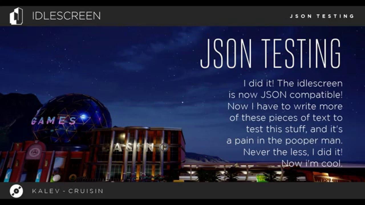 Unreal Engine 4: Idlescreen JSON Test