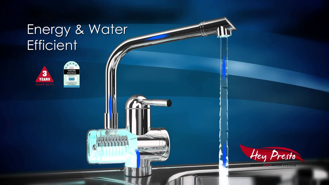 Tankless Hot Water Electric Tap - YouTube