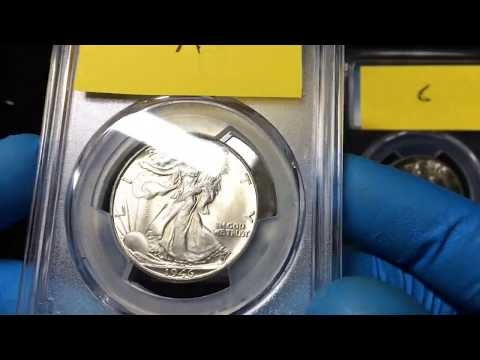 Walking Liberty Half Dollars Before And After PCGS Grading Submission - Guess The Grade