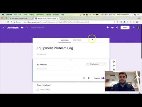 Equipment Problem Log And Order Checkout Form Using Google Forms