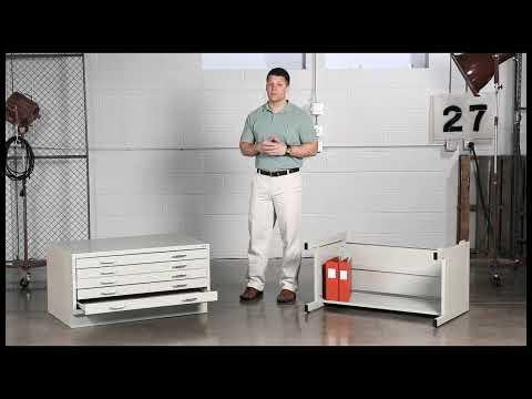 Safco Facil Flat File Cabinets