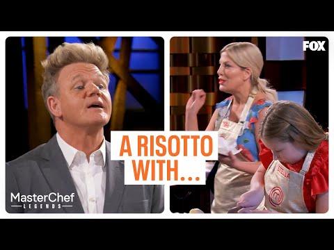 Tori Spelling Tells Gordon About Their Dish   MASTERCHEF CELEBRITY FAMILY SHOWDOWN