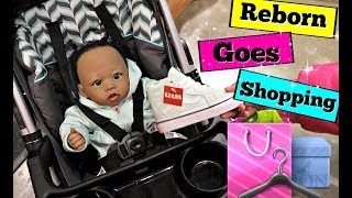 REBORN BABY GOES SHOPPING AT THE MALL