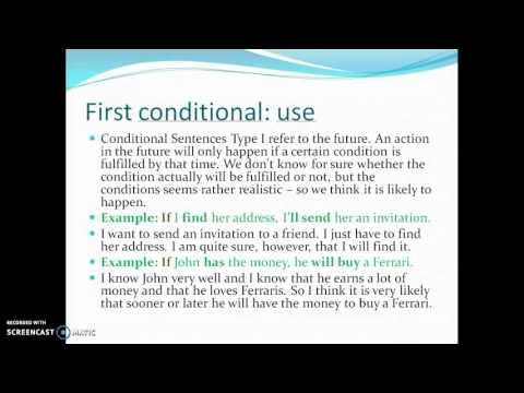 Conditionals, Unit 1 Objective Advanced, CAE